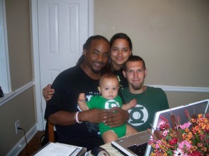 Dad, Chrystal, Justin and Xavier